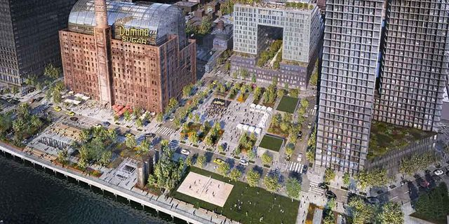 Domino Park i Brooklyn är snart färdigbyggd– premiär i juni. AETHER-IMAGES