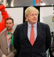 Arkivbild. Boris Johnson efter torsdagens valseger.  Kirsty Wigglesworth / TT NYHETSBYRÅN