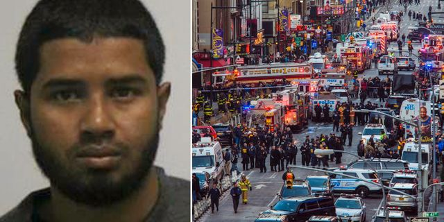 27-årige Akayed Ullah misstänks för försök till terrorbrott. TT/AP