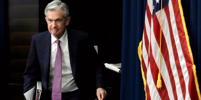 Federal Reserves chef Jerome Powell.  Yuri Gripas / TT NYHETSBYRÅN