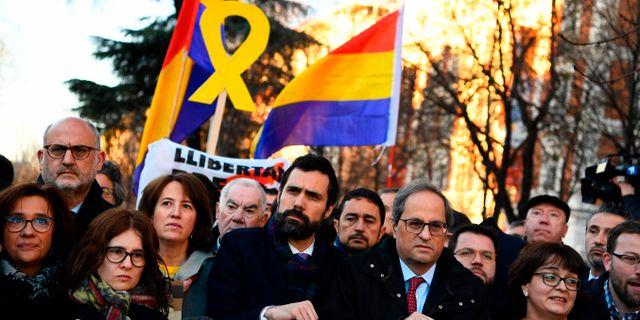 Protester på tisdagen. GABRIEL BOUYS / AFP