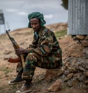 Soldat ur Tigrays rebellstyrka TPLF, arkivbild. Ben Curtis / TT NYHETSBYRÅN