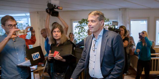 Daniel Kindberg på väg till rättegången. Mats Andersson / TT / TT NYHETSBYRÅN