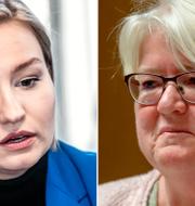 Ebba Busch Thor (KD) och Carina Ohlsson (S). TT