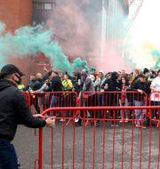 Bild från Old Trafford.  Barrington Coombs / TT NYHETSBYRÅN