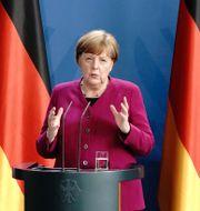 Arkivbild: Tysklands förbundskansler Angela Merkel.  Kay Nietfeld / TT NYHETSBYRÅN
