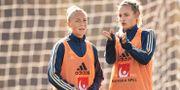 Hanna Bennison och Nathalie Björn på träning. JOEL MARKLUND / BILDBYRÅN