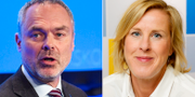 Jan Björklund (L) och Åsa Fahlén, ordförande Lärarnas riksförbund TT