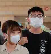 Joshua Wong och andra aktivister, 15 september. Kin Cheung / TT NYHETSBYRÅN