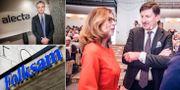 Alectas vd Magnus Billing, Swedbanks vd Birgitte Bonnesen och ordförande Lars Idermark.