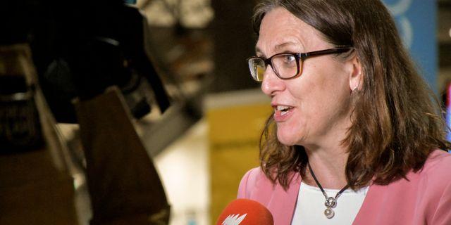 EU:s handelskommissionär Cecilia Malmström Sofia Tanaka/TT / TT NYHETSBYRÅN