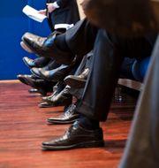Illustrationsbild. Män på konferens.  Aleksander Andersen / SCANPIX SWEDEN