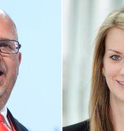 Karl-Petter Thorwaldsson och Maria Landeborn.  TT