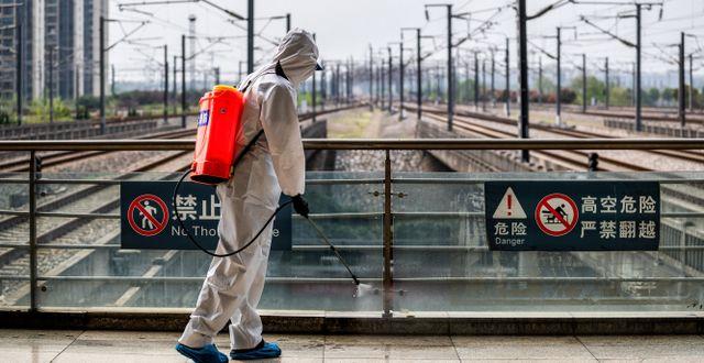 Bild från Wuhan. STR / TT NYHETSBYRÅN