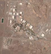 Satellitbild på en iransk kärnenergianläggning i Natanz. Planet Labs Inc. / TT NYHETSBYRÅN