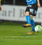 Bild från matchen mellan Halmstad och Mjällby 2013. BJÖRN LINDGREN / TT / TT NYHETSBYRÅN