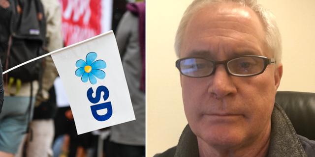 Till höger: SD-politikern Mark Collins.  TT / Privat