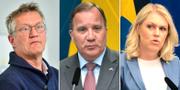 Statsepidemiolog Anders Tegnell, statsminister Stefan Löfven och socialminister Lena Hallengren har blivit några av ansiktena utåt för den svenska coronastrategin. TT