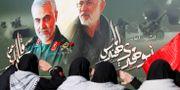 Minnesplats för iranske toppgeneralen Qassem Soleimani vid Bagdads flygplats i Irak. Wissm Al-Okili / TT NYHETSBYRÅN