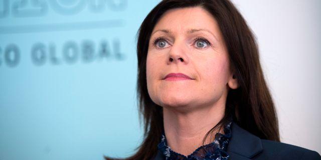 Eva Nordmark, ordförande TCO-förbunden.  Maja Suslin/TT / TT NYHETSBYRÅN