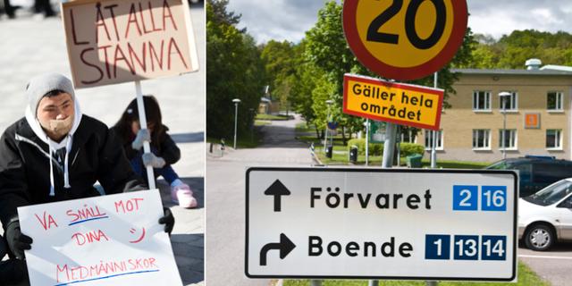 Demonstration till förmån för unga utvisningshotade afghaner i Boden, arkivbild/Förvaret i Kållered. TT