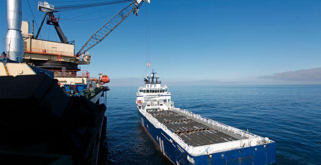 Arbetet med Nord Stream 2 utanför Gotland. Arkivbild. SÖREN ANDERSSON / TT NYHETSBYRÅN