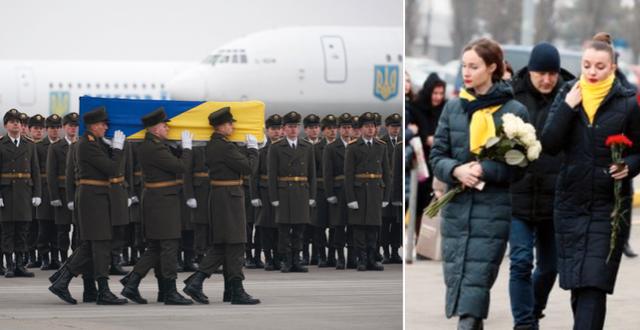 Bilder från flygplatsen i Kiev. Personal från flygbolaget. TT