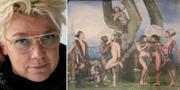 """Elisabeth Ohlson Wallin t.v., """"Paradiset"""" t.h. TT/ Karin Rosvall/Svenska Kyrkan"""