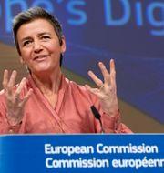 Margrethe Vestager, EU-kommissionens vice ordförande. Virginia Mayo / TT NYHETSBYRÅN