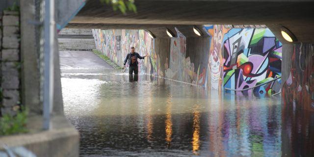 Översvämningar på Ekeleden i Kållered Adam Ihse/TT / TT NYHETSBYRÅN