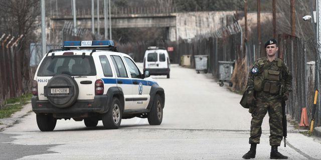 Grekiska soldater vid gränsen SAKIS MITROLIDIS / TT NYHETSBYRÅN