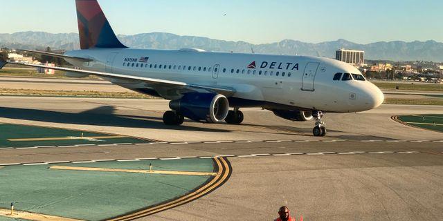Illustrationsbild: En Airbus A319–100 från Delta Air Lines.  Lucy Nicholson / TT NYHETSBYRÅN