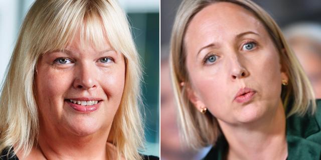 Anna Hedh och Jytte Guteland. TT