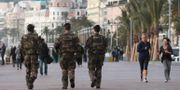 Soldater i Nice. Lionel Cironneau / TT / NTB Scanpix