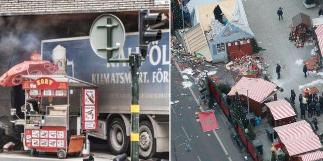 Fyra personer dödades i lastbilsattacken på Drottninggatan i centrala Stockholm och 12 personer dödades i en attack på en julmarknad i Berlin. TT