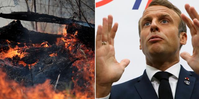 Tusentals bränder härjar i Amazonas/Emmanuel Macron på G7. TT