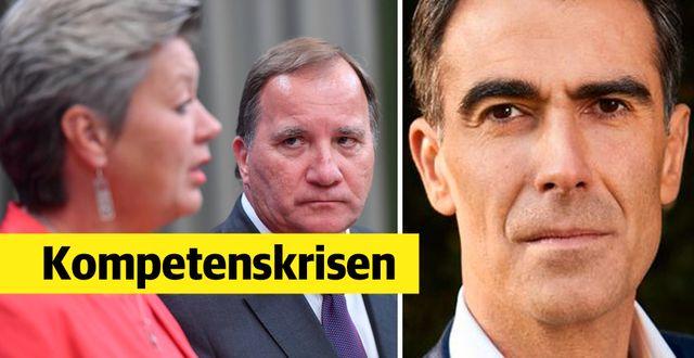 Dimitris Gioulekas menar att politikerna inte gör tillräckligt för att göra Sverige till ett mer attraktivt kunskapsland. Maja Suslin/TT och privat.