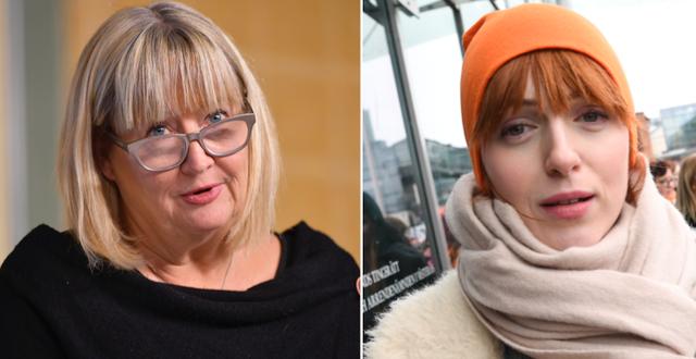 Justitiekansler Mari Heidenborg och Cissi Wallin. TT