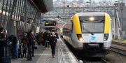 Ett regionaltåg tillhörande Västtrafik på stationen i Jönköping Johan Nilsson/TT / TT NYHETSBYRÅN