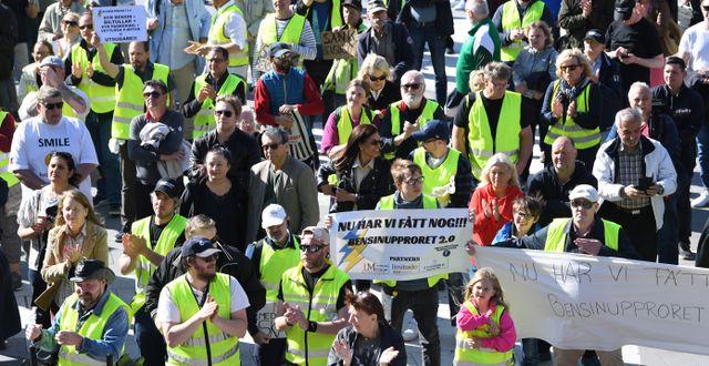En av alla demonstrationer. Fredrik Sandberg/TT / TT NYHETSBYRÅN