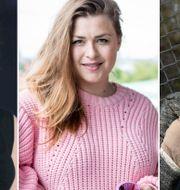 Emma Knyckare, Linnea Henriksson och Julia Frej. TT