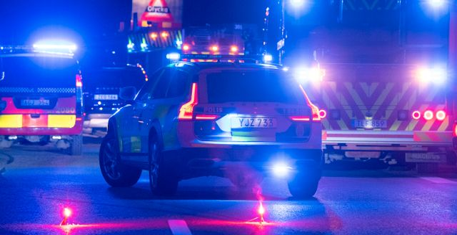 Polis och räddningstjänst på olycksplats/Illustrationsbild Johan Nilsson/TT / TT NYHETSBYRÅN