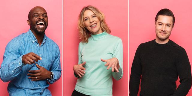 Kodjo Akolor, Kathrine Zimmerman och David Druid.  Sveriges Radio