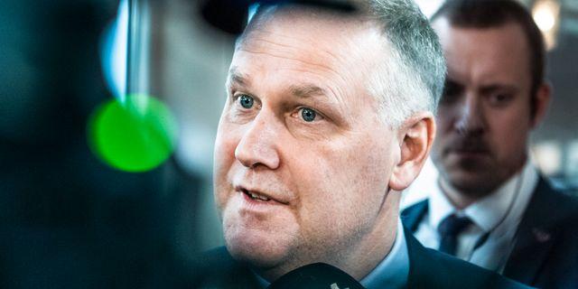 V-ledaren Jonas Sjöstedt.  Lars Pehrson/SvD/TT / TT NYHETSBYRÅN