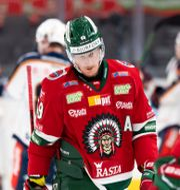 Frölundas Simon Hjalmarsson deppar.  CARL SANDIN / BILDBYRÅN
