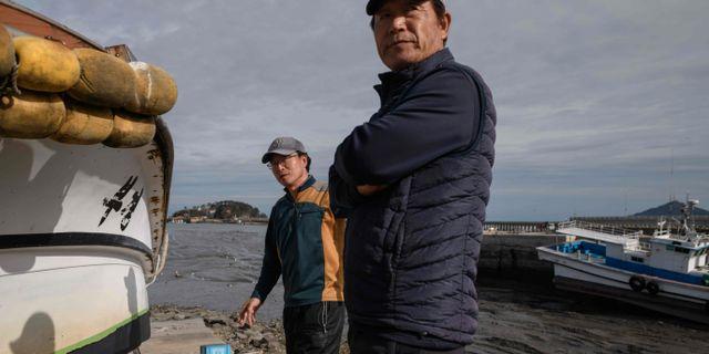 Invånare på ön Yeonpyeong. ED JONES / AFP