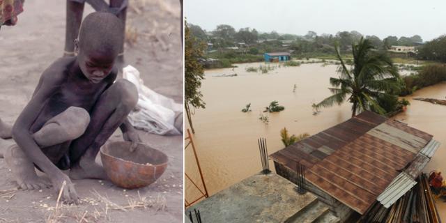 Både torkor och översvämningar i Afrika väntas förvärras av klimatförändringarna. TT