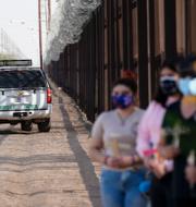 Joe Biden och gränsen vid Calexico, USA, och Mexicali, Mexiko/Arkivbilder TT