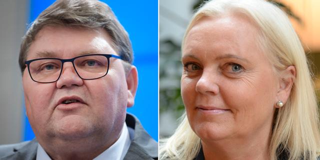 Peter Lundgren och Kristina Winberg. TT