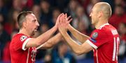 Bayerns Franck Ribery och Arjen Robben JORGE GUERRERO / AFP